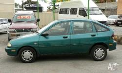 FORD, FESTIVA, WB, 1996, FWD, GREEN, 5D HATCHBACK,