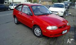 FORD, FESTIVA, WD, 1997, FWD, RED, 3D HATCHBACK,