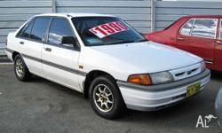 FORD,LASER,1993, 4dr SEDAN, 1.6, 4cyl, 5sp MANUAL, This