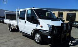 FORD,TRANSIT,VM,2008, RWD, WHITE, GREY trim, CREW