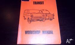 Ford Transit Workshop Manual Ex Library Stock in