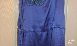 WORN ONCE Beautiful Forever new dress navy with