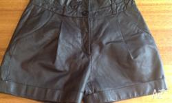 Leather shorts size 8 which look Brand new. They have