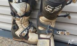 FOX FORMA MOTOX BOOTS SIZE M10 USA VERY GOOD CONDITION