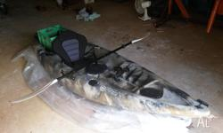 For sale is my freak assassin fishing kayak. I comes