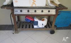 Used 5 burner gas BBQ, in working condition to give
