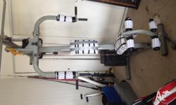 FREE home gym set AS IS -in the picture - good Woking
