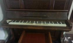 Old piano. For pick up only. Free to whoever can remove