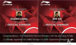 CONGRATIONS!!! All ATC badminton stringers have been