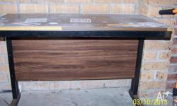 Wood and Metal Desk, old style, heavy. Good for the