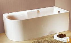 freestandind bath tub great design with the half shroud
