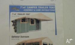 7'X4' TRAILER ;TENT SIZE 4350X2300mm ;SUNROOM
