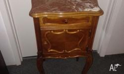MOVING HOUSE SALE French Antique Bedside Table with
