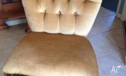 Beuatiful French Boudoir Louis Chair for sale. This