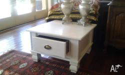 FRENCH PROVINCIAL STYLE COFFEE TABLE LARGE DRAWER WITH