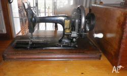 Frister and Rossmann 1896 hand sewing machine in exc
