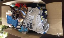 A box jam packed full of gorgeous baby boys clothes!