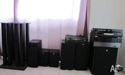 Full home theater system for sale 5 B speakers (602), 1