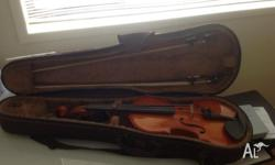 I have a full size (4/4) violin for sale made in Korea.