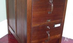 FULLY RESTORED ANTIQUE 2 DRAWER FILING CABINET Has been