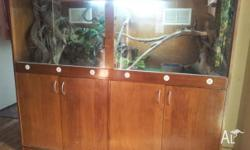For sale fully set up reptile unit. 1.75mts long 50cm