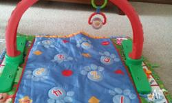 Lovely soft colorful floor mat and arch toy for new