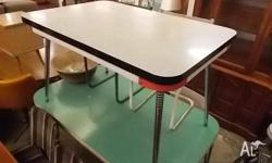 This is a very funky vintage RETRO kitchen/dining table