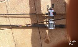 5foot 6 G Loomis GL2 with Abu Black max bait cast reel.