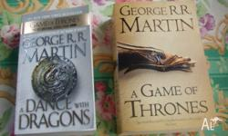 2 books the game of thrones book 1 & + book 5 both