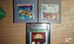 Gameboy games: - Super Mario Land ($10) - The Lion King