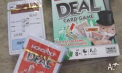 Monopoly Deal game, opened box but unsealed cards