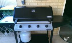 Gasmate 4 burner BBQ with side wok burner.....Good