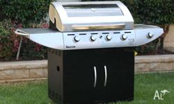 Quality Gasmate Stainless Steel Executive 4 burner BBQ