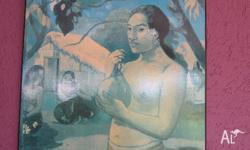 Board mounted Gauguin print 80 x 60 cm, excellent