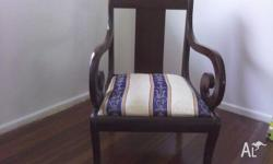 GENTLEMANS BEDROOM CHAIR MADE BY JOHN D RAAB CHAIR CO