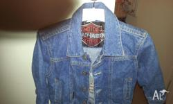 Genuine Child Harley Davidson Jean Jacket Size 3T (suit