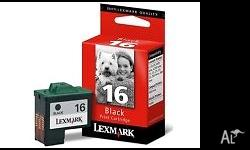 Genuine Lexmark 16 black print cartridge Brand new in