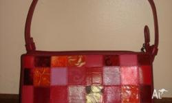 Genuine Meisslie Red Patchwork bag. Never used. BNWOT.