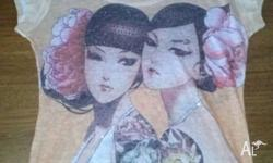 Beautiful sheer cotton T-shirt for sale size small made