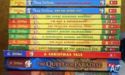 Up for sale is a variety of Geronimo Stilton books