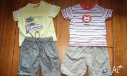 2 x matching Sprout t-shirt&short outfits (1st photo) 1