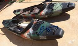Two Finn Gismo Kayaks in great condition. Sell