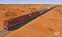 A ticket for a Red Saver ticket on the Ghan, leaving