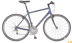 This is our most popular flat bar road bike. It is a