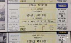 Giggle and Hoot Show! � Regal Theatre, Subiaco � Sunday