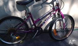Girl's bike, in good roadworthy condition. Needs a bit