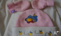 Girl's Winnie the Pooh Beanie and Mittens Fantastic