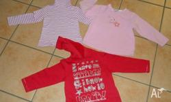 Size 3. Assorted items. Stripe Pink Skivvy. Pink fleece