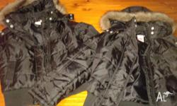 As New Girl's Winter Jacket Size 8 with Fur Trim, worn