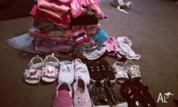 Roughly 50 items, shoes as well, size 5. All clothes